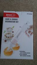 Smart Gourmet Cookie & Cake Decoration Kit Cookie Press w/ 12 Nozzles & 6 Molds