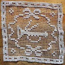 Decke Trompete Tischdecke Handarbeit Baumwolle creme UNBENUTZT