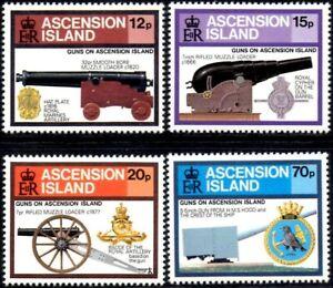 (Ref-14534) Ascension 1985 Guns on Ascension Island  SG.381/384  Mint (MNH)