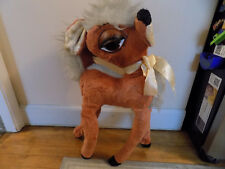 "Vtg Mid Century BIG EYES Reindeer Plush Jumbo 28"" DOE Deer Standing Christmas"