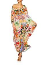 new CAMILLA FRANKS SILK SWAROVSKI FLOWER HOUR ROUND NECK KAFTAN DRESS layby avai