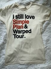 Simple Plan Unisex Warped Tour T-shirt In Toronto Cream Color Size Medium