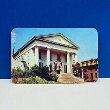 Postcard vtg paper ephemera post card 1952 Masonic temple Geneva freemasonry NY