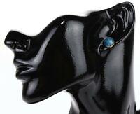 Argento Vivo 125095 Gold Blue Aventurine Boxed Stud Earrings