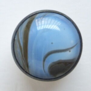 Button Antique - Glass Opaline - 15 MM - Glow Glass Button 9/16 IN