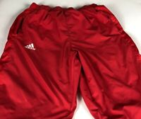 Adidas ClimaLite Wind Pants Mens Large 32 x 32 Actual Stretch Lined Zip Pockets