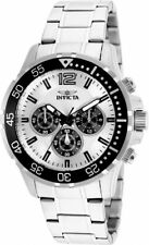 Invicta Mens Specialty Chronograph 100m Quartz Stainless Steel Silver Dial Watch