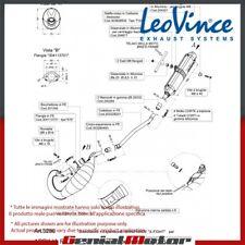 APRILIA SX 50 2015 15 LEOVINCE SCARICO COMPLETO X-FIGHT BLACK ACCIAIO INOX 3280B