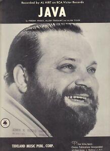 Java By Al Hirt Jazz Piano Lyrics On RCA Victor Records BY Cimino Publications