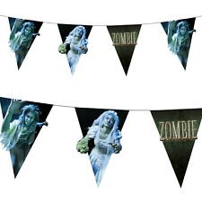 4m Halloween Horror Zombie Wedding Couple Paper Flag Banner Bunting Decoration