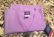 Cherokee Size L Work Wear Short Sleeve Smock Scrubs Purple NWT