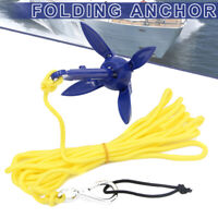 1x Folding Anchor For Canoe Kayak Fishing Accessories Boat Marine Sailboat Tool