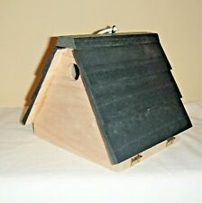 hide a key bird house, decorative wooden birdhouse to hide key in