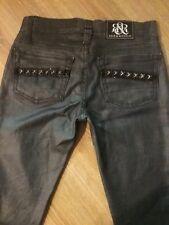 Rock & Republic Women's Jeans Pants Crazy B!@#H Skinny Stretch Studs Black Sz 23