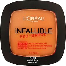 LOREAL Infallible Pro Matte 16Hr Powder Golden Beige 600 NEW