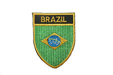 BRASIL COUNTRY FLAG OVAL SHIELD FLAG EMBROIDERED IRON-ON PATCH CREST BADGE