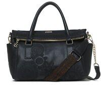 Desigual Dark Amber Loverty Hand Bag Negro