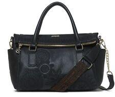 Desigual Dark Amber Loverty Hand Bag Handtasche Tasche Negro Schwarz Neu