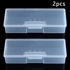 2x Hogar Plástico Transparente Joya Cuenta Organizador Caja Almacenaje Envase De
