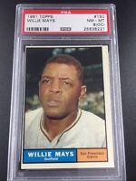 1961 Topps Willie Mays #150 PSA 8 NM-MT (oc) SF San Francisco Giants MVP Great