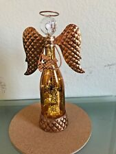 Copper Gold Angel Statue Light Up Christmas rustic contemporary