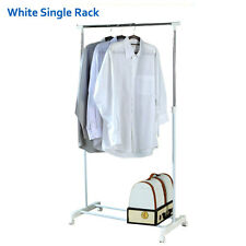 Adjustable Rolling Garment Rack Heavy Duty Clothes Hanger  Rack New White