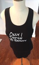 """Bella + Canvas Black Tank Top """"Only I Define My Beauty""""  Size Small 100% Cotton"""