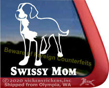 Swissy Mom   Greater Swiss Mountain Dog Vinyl Window Decal Sticker