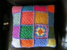 HAND MADE Crochet Cushion. retro shabby chic *new* + new Ikea cushion