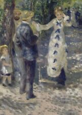 The Swing, 1876, PIERRE-AUGUSTE RENOIR Impressionism Art Poster