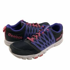 Reebok Yourflex Womens Cross Training Shoes Black Low Top Lace Up Round Toe 7