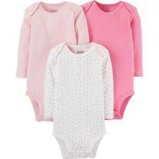 Child of Mine by Carter's Newborn Baby Girl Long Sleeve 3 Pack Bodysuit