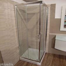 Box doccia 75x75 angolare scorrevole quadrato cristallo 6 mm vetro trasparente