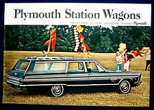 Prospekt brochure 1965 Plymouth Fury * Belvedere * Valiant station wagons (Estados Unidos)