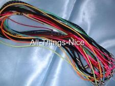 SILK NYLON LEATHER VELVET RUBBER Pendant Necklace String Sampler Jewellery Cord