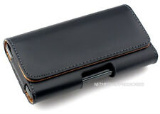 Black P-Leather Horizontal Belt Case Pouch w/Clip for Apple iPhone 5S 5C SE New