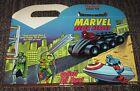 1990 Marvel Super Heroes Hardees Funmeal Box - Spider-Man Hulk Captain America