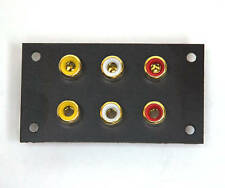 2pc RCA Jack Audio Panel set Gold Plated 6P 3018A Taiwan ( PU Set ) 6 Channel