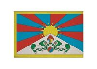 Aufnäher Tibet Fahne Flagge Aufbügler Patch 9 x 6 cm