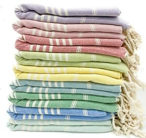 "Turkish Beach Towel Blanket 100%Cotton Striped Bath Towel Picnic Blanket 36""x68"""
