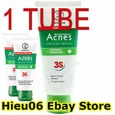 Acnes Creamy Wash Cleanser Enriched Vitamin C&E Smooth Clear Bright Skin 50g