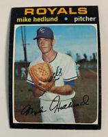 1971 Mike Hedlund # 662 Kansas City Royals KC Topps Baseball Card