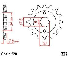 KR  Ritzel 13Z Teilung  520 HONDA CRM 125 R 90-99 New... front sprocket