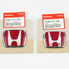 Genuine JDM Honda Integra Type R DC2 FRONT & REAR Emblem 75700-ST7-Z00, 75701...