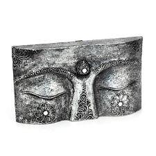 Buddha Augen - Holz Relief - Handarbeit aus Bali - Gr. XS 30 cm - Wandbild Asien