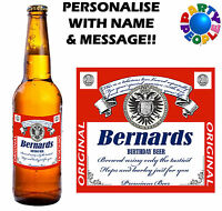 PERSONALISED BEER BOTTLE LABEL (TYPE 2) - ANY NAME & MESSAGE - GIFT FOR DAD!