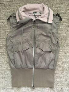 Adidas Stella McCartney Vest Womens Size 40 Gray Green Heavy Duty Zip Active