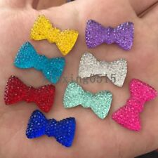 20pcs MIX Resin rainbow bow /Flat Back Appliques Scrapbooking for phone/Wedding