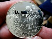 Silver Medal, 1969 Americans Land on Moon, 1.05 Troy Oz. Sterling Silver