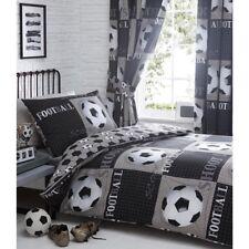 Shoot Football Duvet Cover and Pillowcase Bedding Bed Set Grey Single